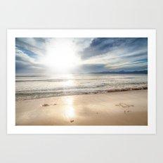 Sunrise Beach Art Print