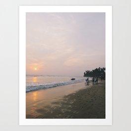Sunset Surf on Kabalana Beach, Ahangama, Sri Lanka 2 Art Print