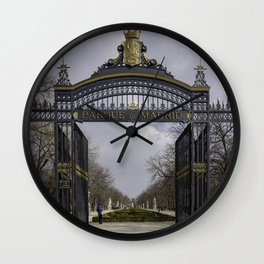 Parque de Madrid entrance Wall Clock