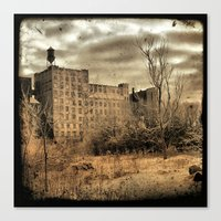 cityscape Canvas Prints featuring Cityscape by The Strange Days Of Gothicrow
