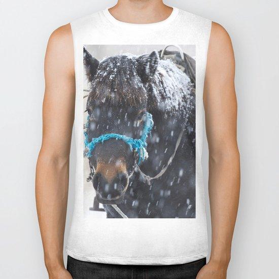 Winter Horse I Biker Tank