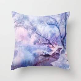 Winter fairy tale Throw Pillow
