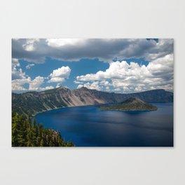 Cloud Camo Crater Lake Canvas Print
