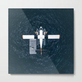 Aiplane sky view Metal Print