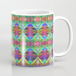 DNA Neon Helix Abstract Pattern Coffee Mug