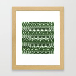 Italian Greyhound fair isle christmas snowflakes dog breed silhouette pattern gifts Framed Art Print