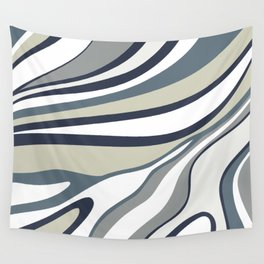Abstract wavy lines Wall Tapestry