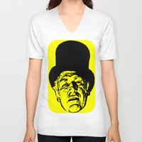 literature V-neck T-shirts featuring Outlaws of Literature (Ken Kesey) by Silvio Ledbetter