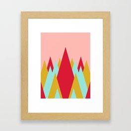 Whimsical Christmas // Trees Framed Art Print