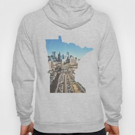 Minneapolis Minneosta State Outline Hoody