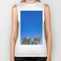 palm trees Biker Tanks featuring Palm Trees by JacPfef