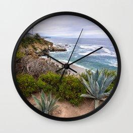 View from cliffs in Laguna Beach, CA Wall Clock