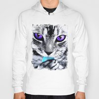 thundercats Hoodies featuring Purple eyes Cat by Augustinet
