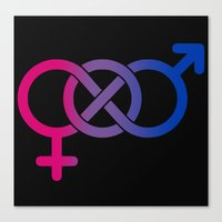 bisexual Canvas Prints featuring Bisexual by Clara Hollins