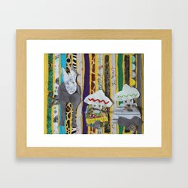 Dos Hombres Uno Burro 2 Framed Art Print