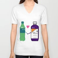 gucci V-neck T-shirts featuring Lean in Love by Grime Lab
