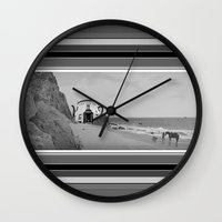 planet of the apes Wall Clocks featuring Filthy Apes by IRIS Photo & Design