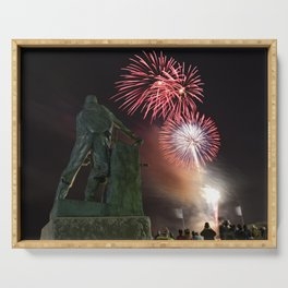 Fourth of July Fireworks in Gloucester Serving Tray