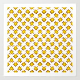 Gradient.Decorative stars. Art Print