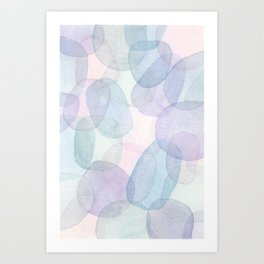 Pastel Watercolor Swatches Art Print