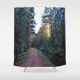 Along the Flume Shower Curtain