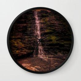 Tintagel beach waterfall Wall Clock