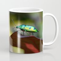 philippines Mugs featuring Iridescent Bug (Philippines) by Dr. Tom Osborne