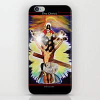 christ iPhone & iPod Skins featuring THE CHRIST by KEVIN CURTIS BARR'S ART OF FAMOUS FACES