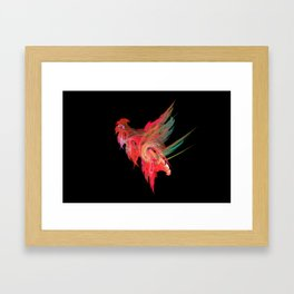 Cocky cock Framed Art Print