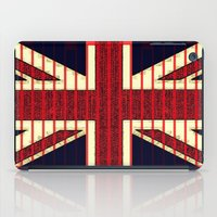 british flag iPad Cases featuring BRITISH FLAG by shannon's art space