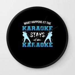 Funny Karaoke Pun Music Bar Singing Lover Singer Wall Clock