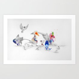 #BirdsAreDinosaurs Art Print