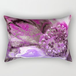 In Sunlight, Petunia Reflections Rectangular Pillow