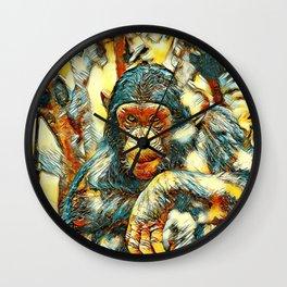 AnimalArt_Chimpanzee_20180201_by_JAMColorsSpecial Wall Clock