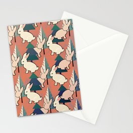 Bunnies and Trees 1 Stationery Cards