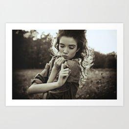 the little poor girl kiss Art Print