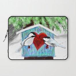 Chickadee Love Laptop Sleeve