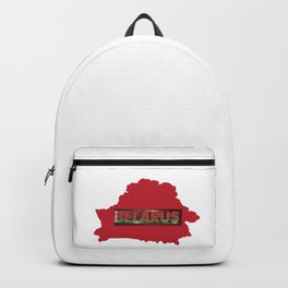 Belarus Flag and Red Map Backpack