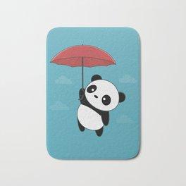 Kawaii Cute Panda With Umbrella Bath Mat