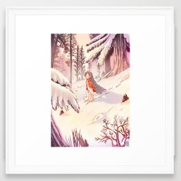 Pria in the winter morning Framed Art Print