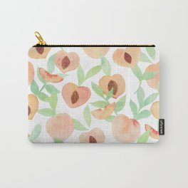 Watercolor Peaches Carry-All Pouch