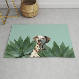 Dalmatian between Agave Leaves Rug