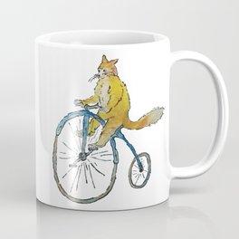 Kitty-fox riding a bike Coffee Mug