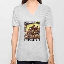 Buy War Bonds -- WW2 Propaganda Unisex V-Neck