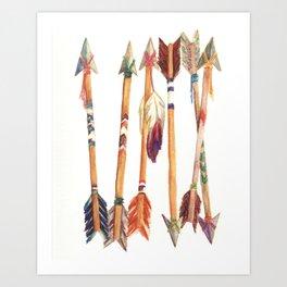 Feathered Arrows Art Print