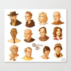Breaking Bad caricatures Canvas Print