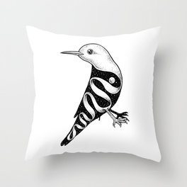 Lost in Its Own Existence (Bird) Throw Pillow