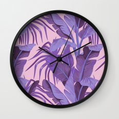 Tropical '17 - Starling [Banana Leaves] Wall Clock