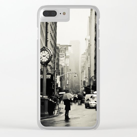 New York City - 5th Avenue in the Rain Clear iPhone Case