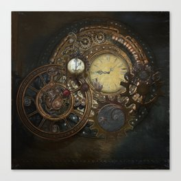 Steampunk Clocks Canvas Print